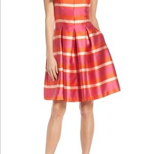 Stripe colorful Fit and Flare Dress Sz 10